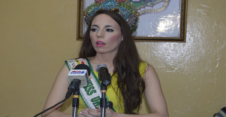 Miss United Nations 2015, Sherrie Gearheart, at Micat Regular Press Briefing.